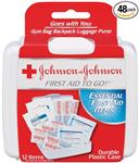 Bộ sơ cứu y tế loại nhỏ: Johnson & Johnson first aid to go