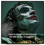 TRANH KHUNG GỖ DC JOKER TRAGEDY